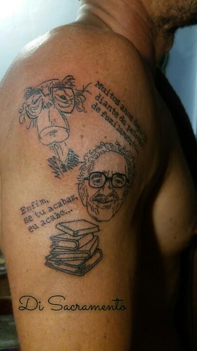 Tatuagem Caricatura no Braço