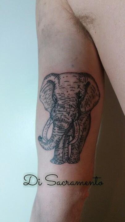 Tatuagem de Elefante no Braço